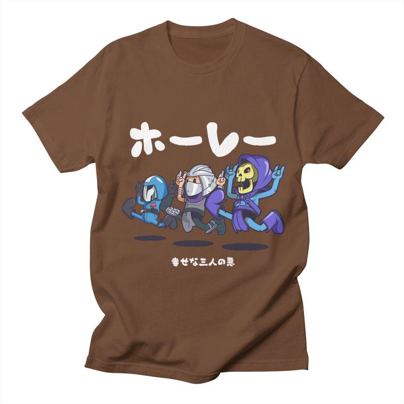 Happy 3 Fiends Men's Regular T-Shirt by mankeeboi's Artist Shop