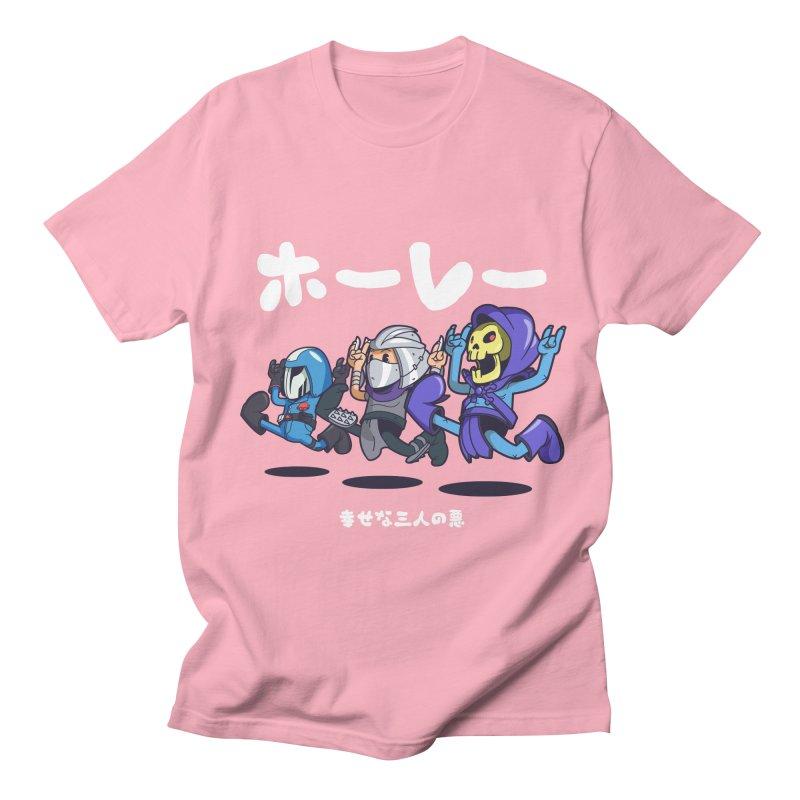 Happy 3 Fiends Women's Regular Unisex T-Shirt by mankeeboi's Artist Shop