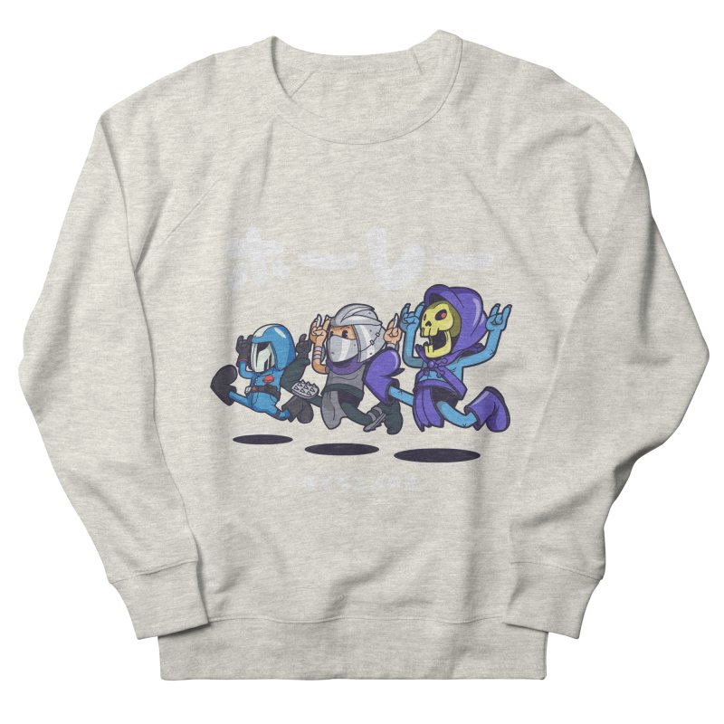 Happy 3 Fiends Men's French Terry Sweatshirt by mankeeboi's Artist Shop