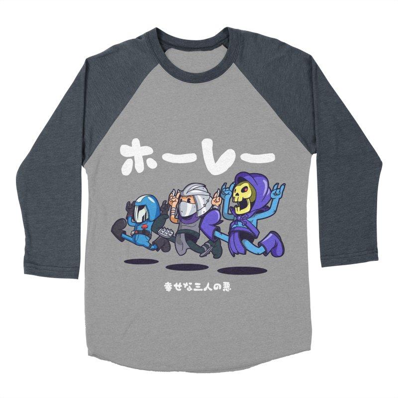 Happy 3 Fiends Women's Baseball Triblend Longsleeve T-Shirt by mankeeboi's Artist Shop