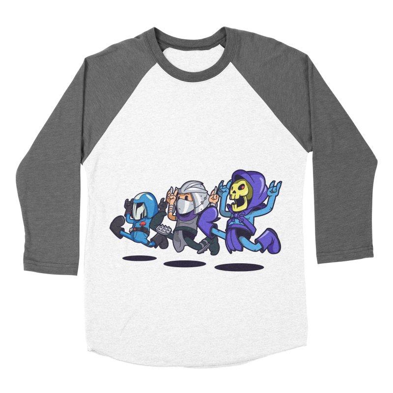 Happy 3 Fiends Men's Baseball Triblend T-Shirt by mankeeboi's Artist Shop