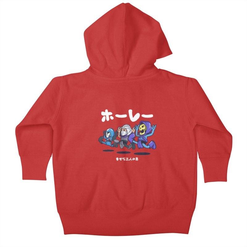 Happy 3 Fiends Kids Baby Zip-Up Hoody by mankeeboi's Artist Shop