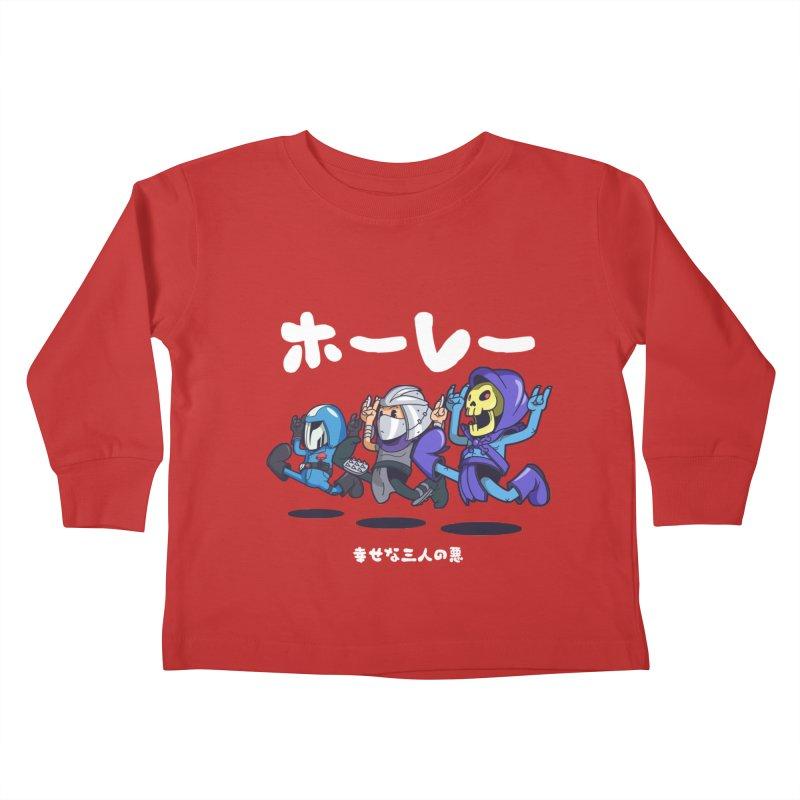 Happy 3 Fiends Kids Toddler Longsleeve T-Shirt by mankeeboi's Artist Shop