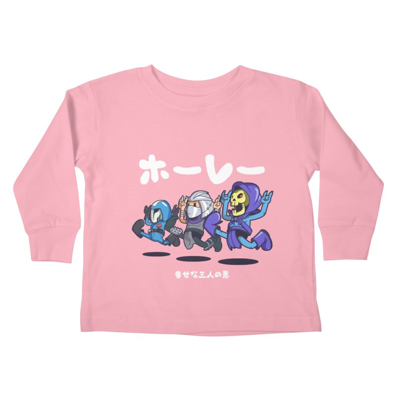 Happy 3 Fiends Kids Toddler Longsleeve T-Shirt by mankeeboi's Artist Shop