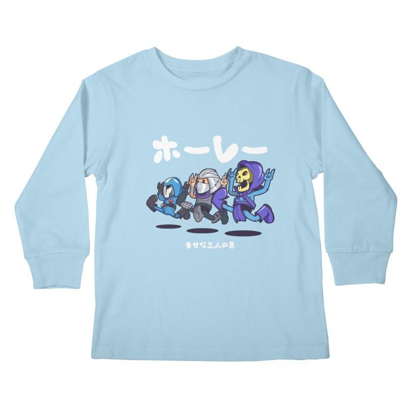 Happy 3 Fiends Kids Longsleeve T-Shirt by mankeeboi's Artist Shop