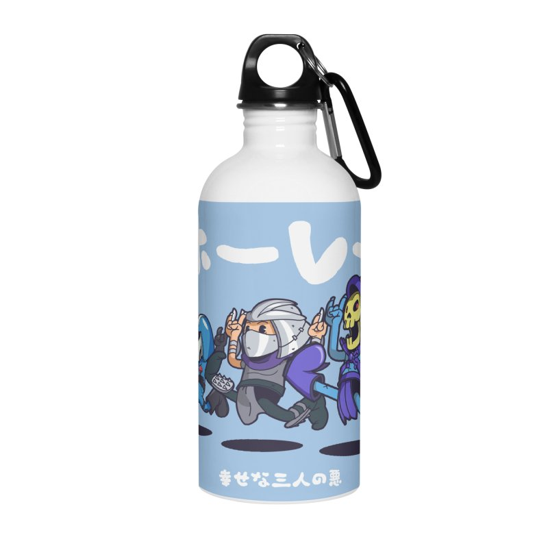 Happy 3 Fiends Accessories Water Bottle by mankeeboi's Artist Shop
