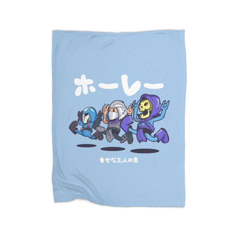 Happy 3 Fiends Home Blanket by mankeeboi's Artist Shop