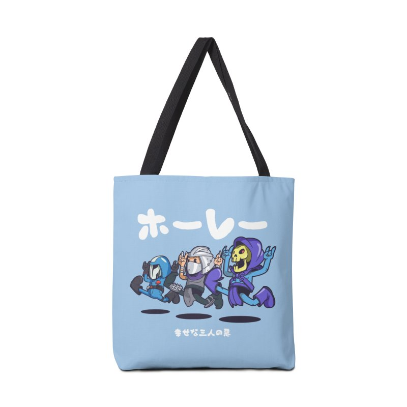Happy 3 Fiends Accessories Bag by mankeeboi's Artist Shop
