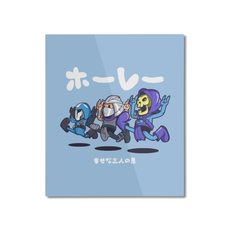 Happy 3 Fiends Home Mounted Aluminum Print by mankeeboi's Artist Shop