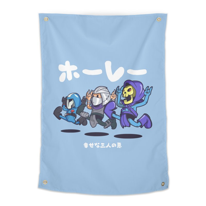 Happy 3 Fiends Home Tapestry by mankeeboi's Artist Shop