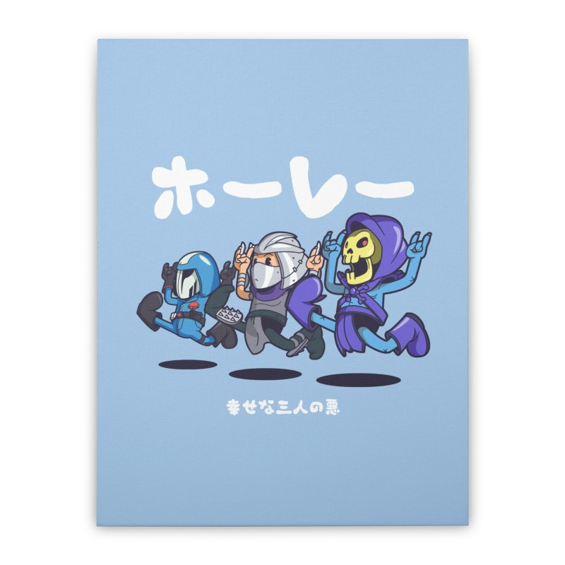 Happy 3 Fiends Home Stretched Canvas by mankeeboi's Artist Shop