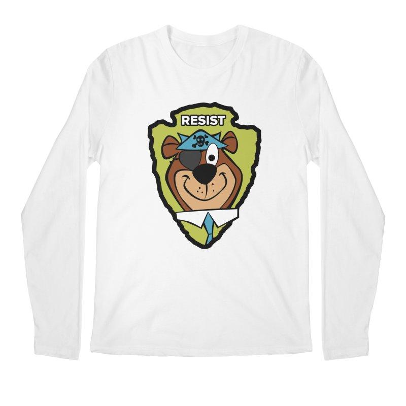Rogue-E Bear Men's Longsleeve T-Shirt by Manly Art's Tee Shop