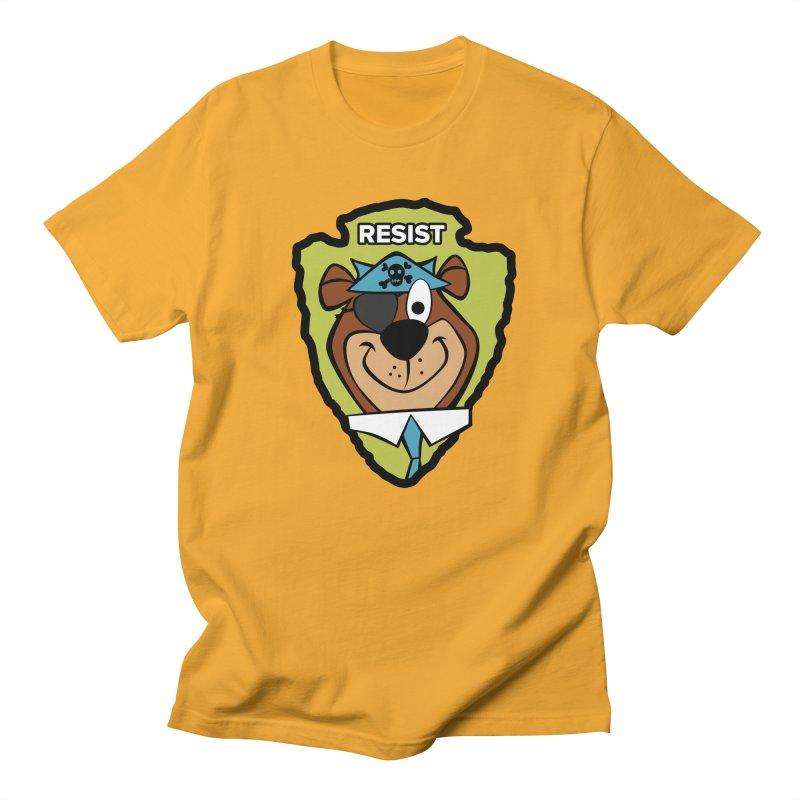Rogue-E Bear Men's T-shirt by Manly Art's Tee Shop