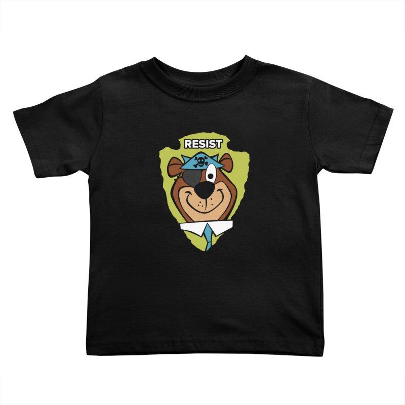 Rogue-E Bear Kids Toddler T-Shirt by Manly Art's Tee Shop