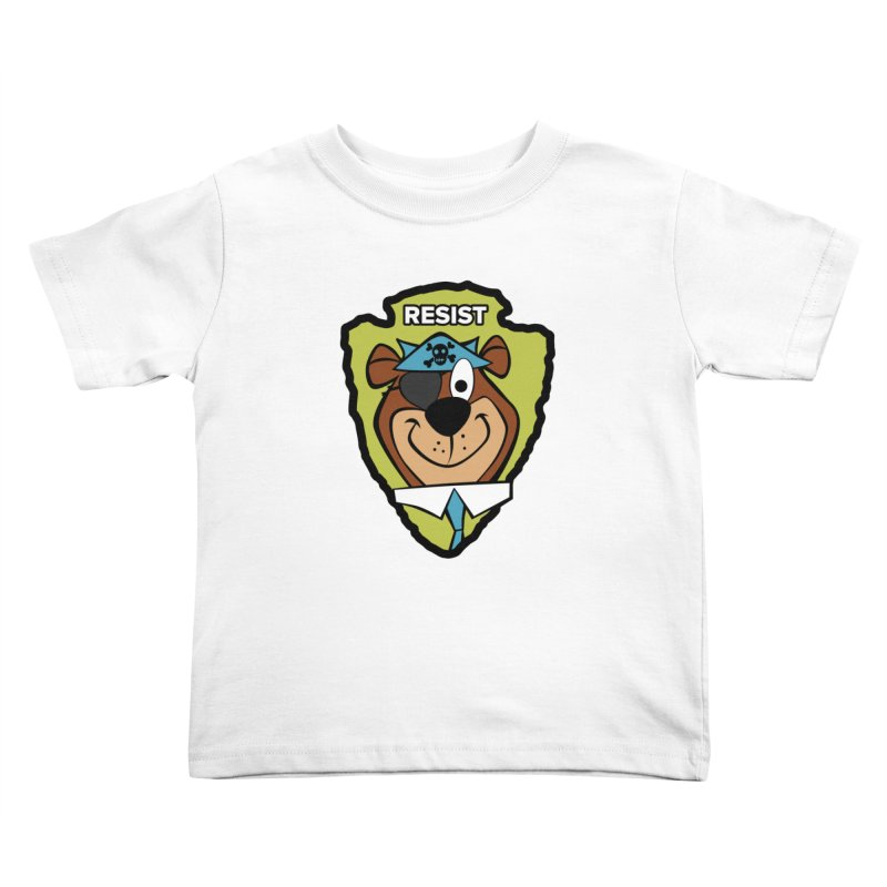 Rogue-E Bear Kids Toddler T-Shirt by Manly Art's Tee Shop