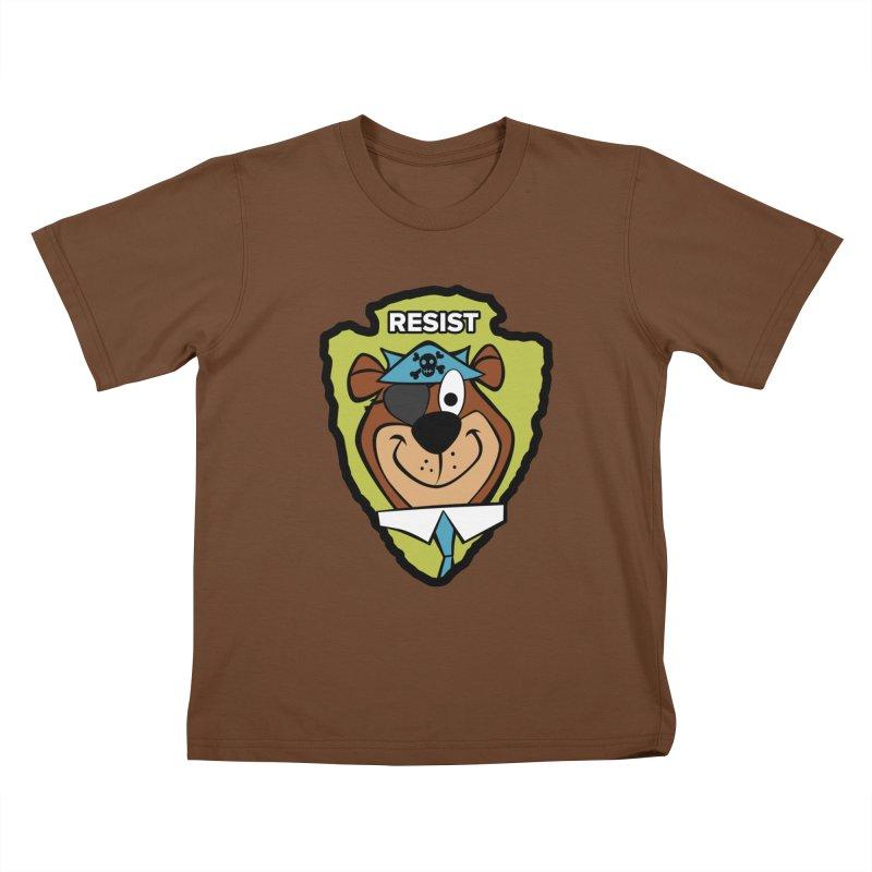 Rogue-E Bear Kids T-Shirt by Manly Art's Tee Shop