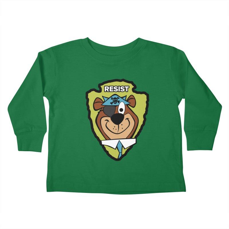 Rogue-E Bear Kids Toddler Longsleeve T-Shirt by Manly Art's Tee Shop