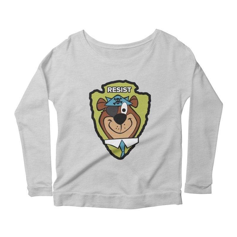 Rogue-E Bear Women's Longsleeve Scoopneck  by Manly Art's Tee Shop