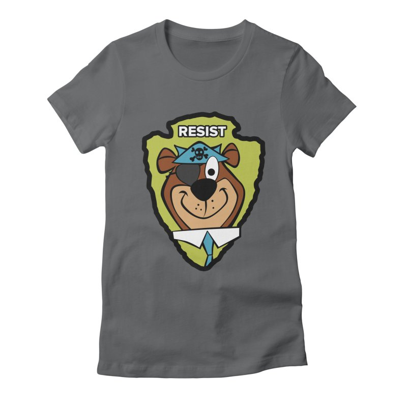 Rogue-E Bear Women's Fitted T-Shirt by Manly Art's Tee Shop