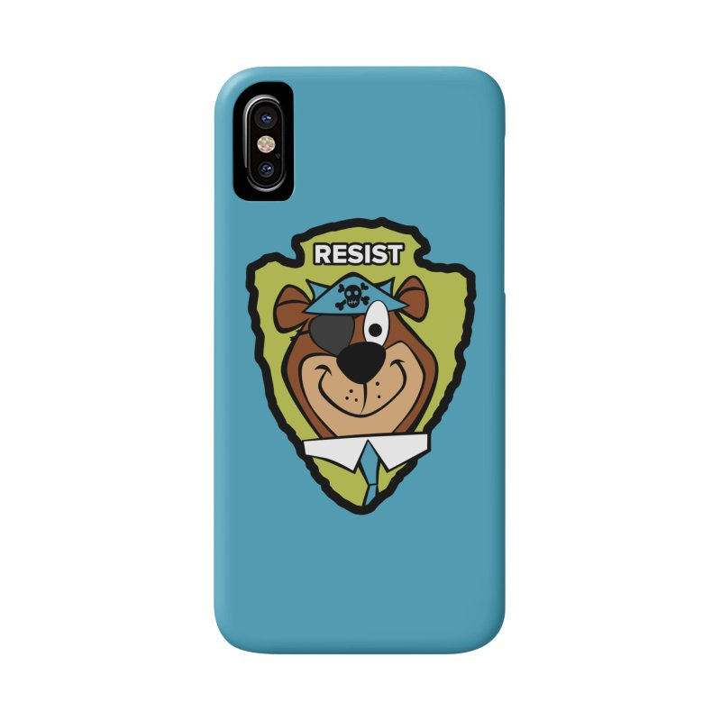 Rogue-E Bear Accessories Phone Case by Manly Art's Tee Shop