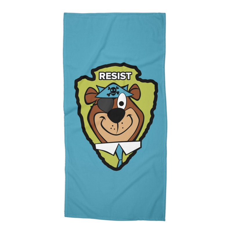 Rogue-E Bear Accessories Beach Towel by Manly Art's Tee Shop