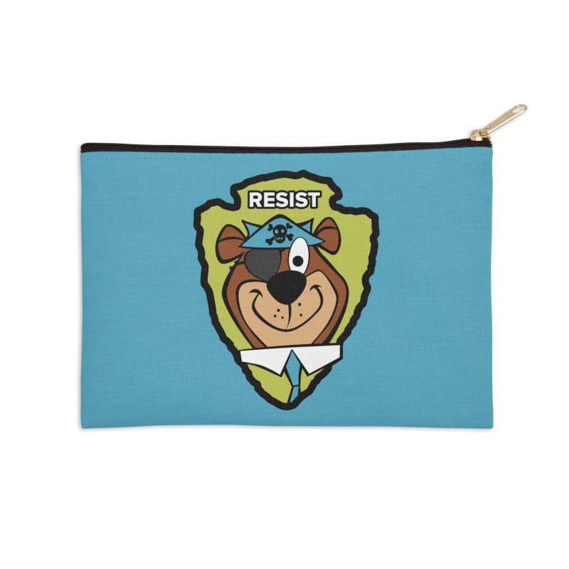 Rogue-E Bear Accessories Zip Pouch by Manly Art's Tee Shop