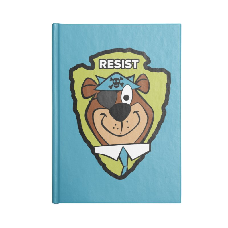 Rogue-E Bear Accessories Notebook by Manly Art's Tee Shop