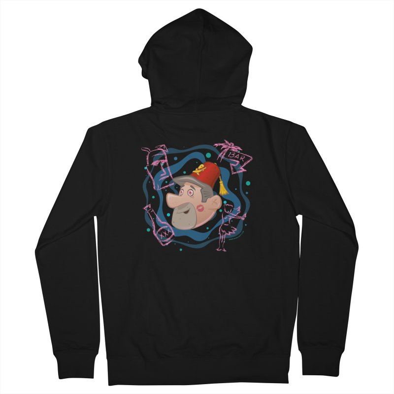 Night of the Tiki Men's Zip-Up Hoody by Manly Art's Tee Shop