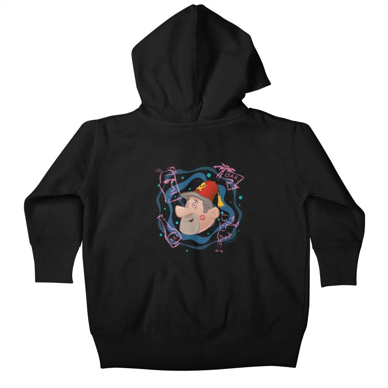 Night of the Tiki Kids Baby Zip-Up Hoody by Manly Art's Tee Shop