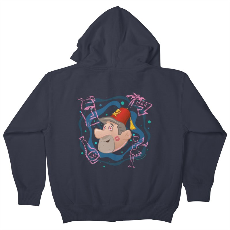 Night of the Tiki Kids Zip-Up Hoody by Manly Art's Tee Shop