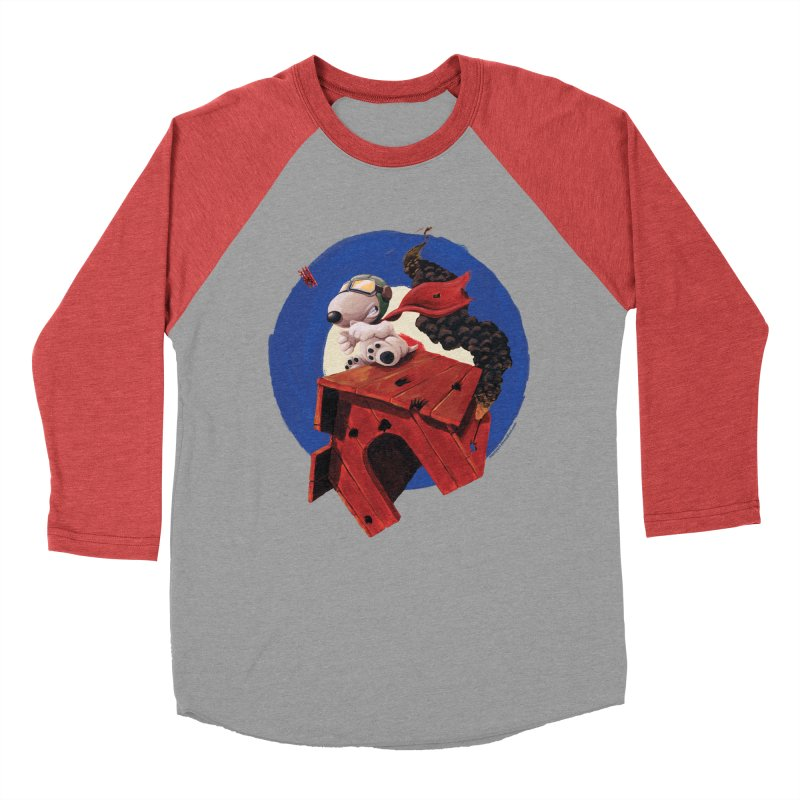 Curse You Red Baron! Women's Baseball Triblend T-Shirt by Manly Art's Tee Shop