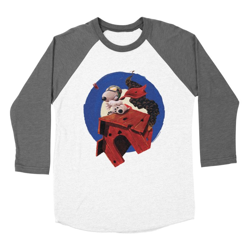 Curse You Red Baron! Men's Baseball Triblend T-Shirt by Manly Art's Tee Shop