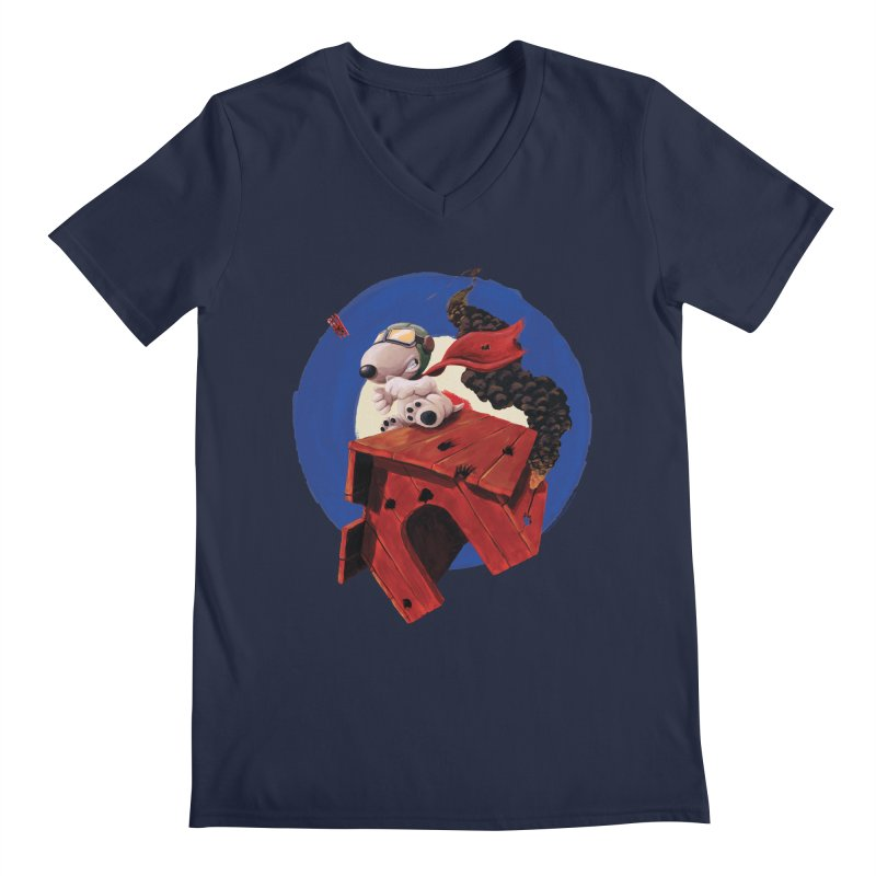 Curse You Red Baron! Men's V-Neck by Manly Art's Tee Shop