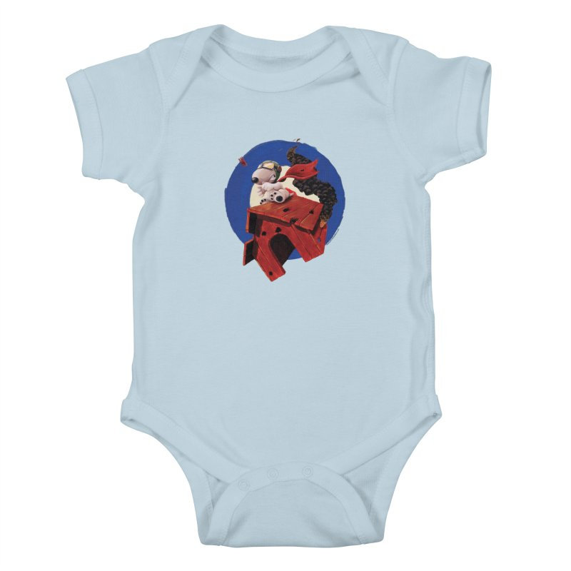 Curse You Red Baron! Kids Baby Bodysuit by Manly Art's Tee Shop