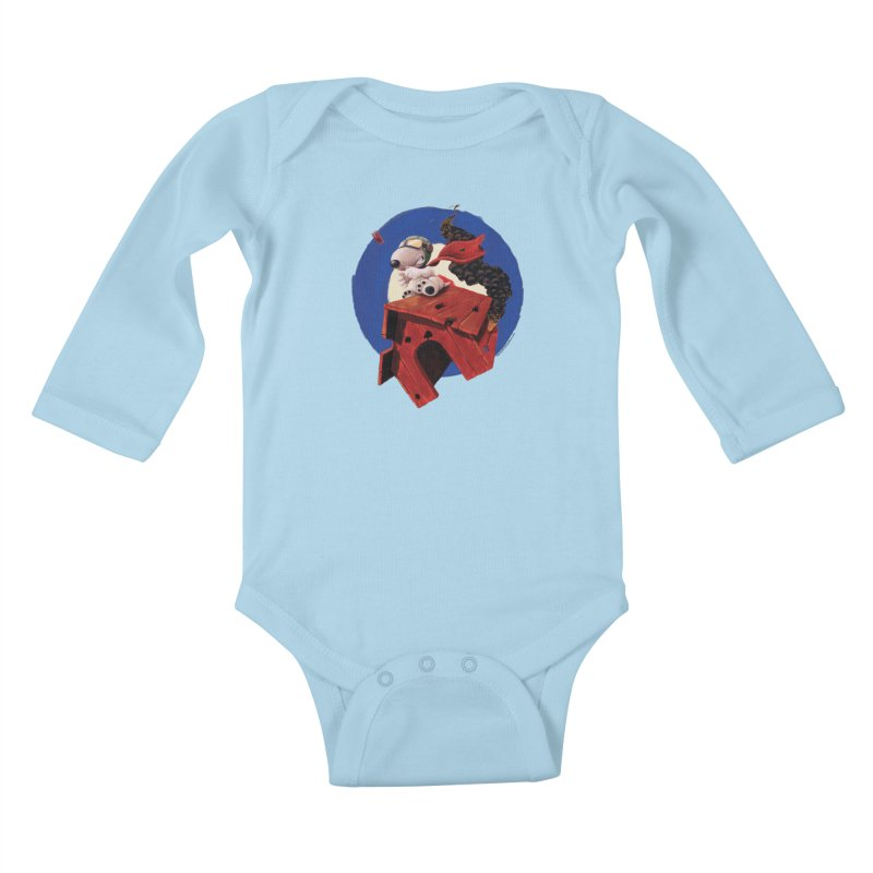 Curse You Red Baron! Kids Baby Longsleeve Bodysuit by Manly Art's Tee Shop