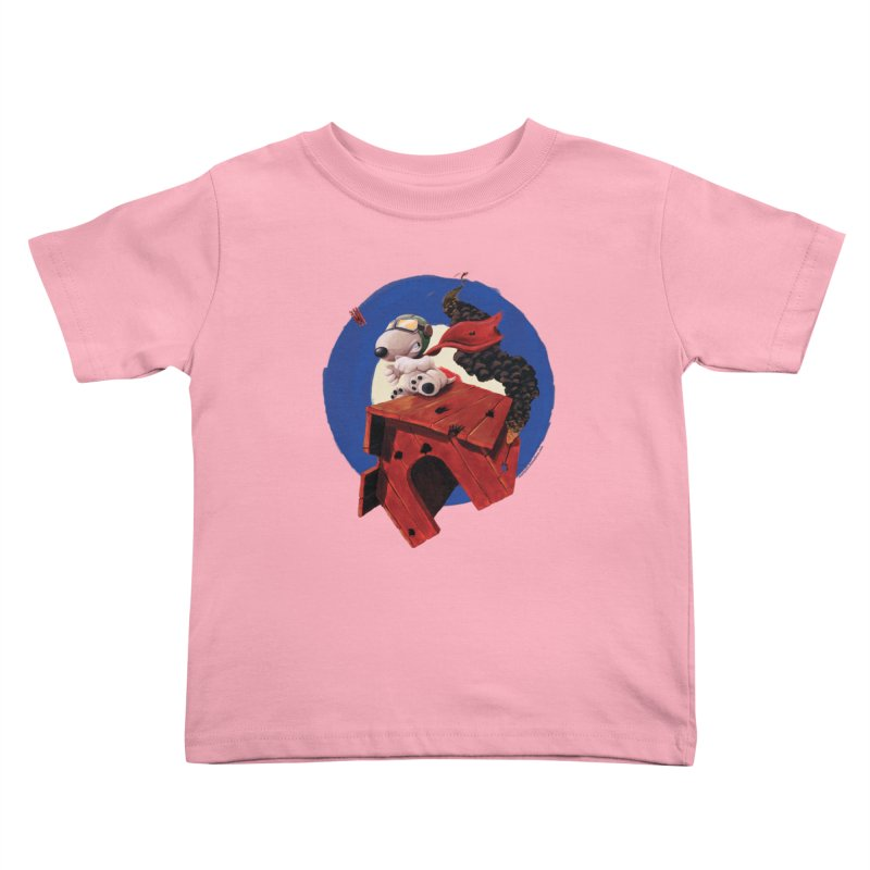 Curse You Red Baron! Kids Toddler T-Shirt by Manly Art's Tee Shop