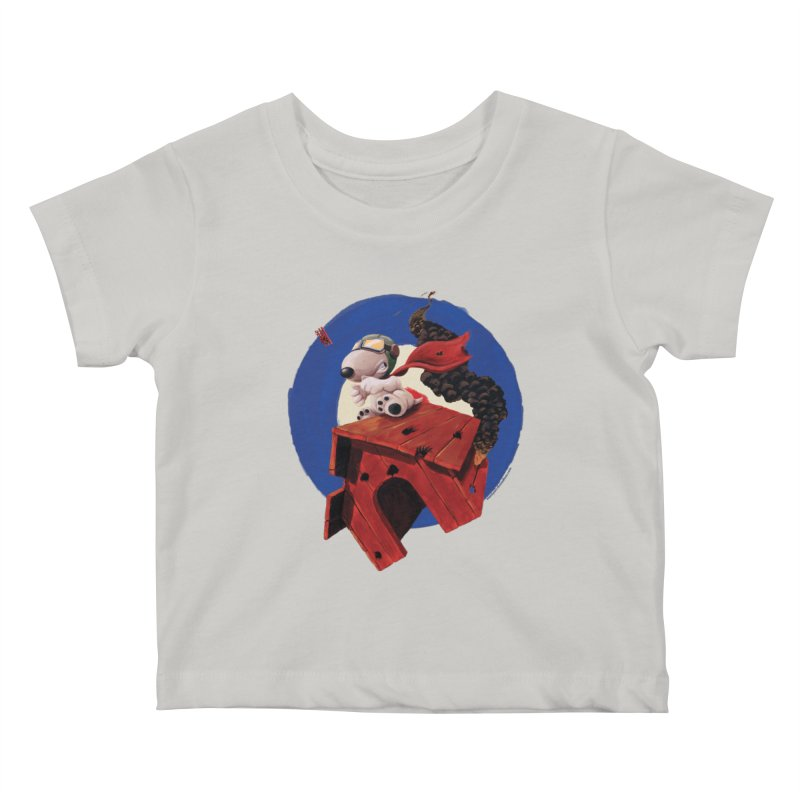 Curse You Red Baron! Kids Baby T-Shirt by Manly Art's Tee Shop