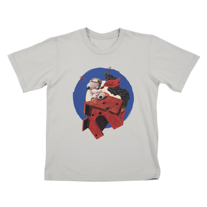 Curse You Red Baron! Kids T-shirt by Manly Art's Tee Shop