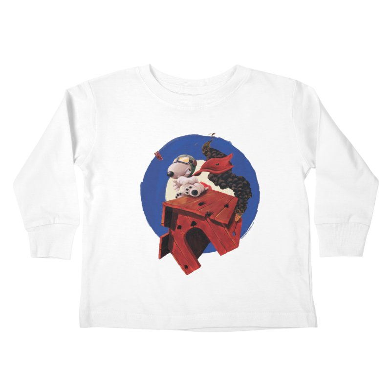 Curse You Red Baron! Kids Toddler Longsleeve T-Shirt by Manly Art's Tee Shop