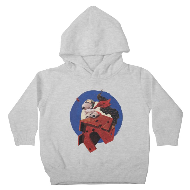 Curse You Red Baron! Kids Toddler Pullover Hoody by Manly Art's Tee Shop