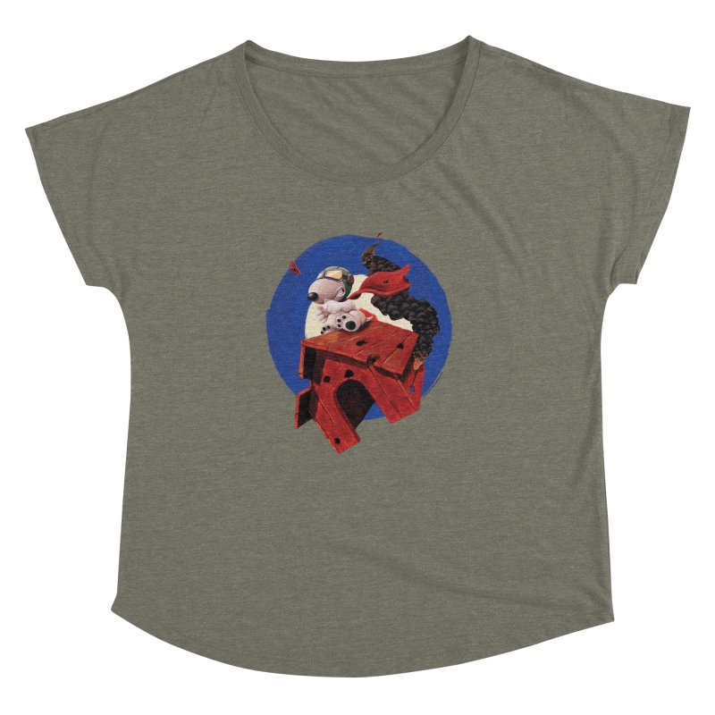 Curse You Red Baron! Women's Dolman by Manly Art's Tee Shop