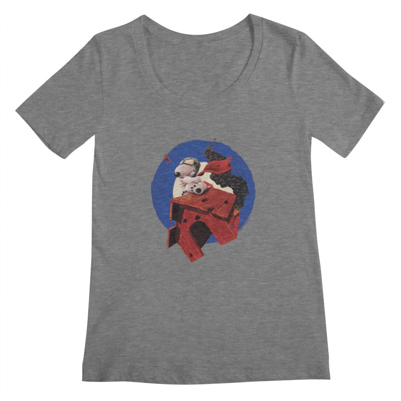 Curse You Red Baron! Women's Scoopneck by Manly Art's Tee Shop