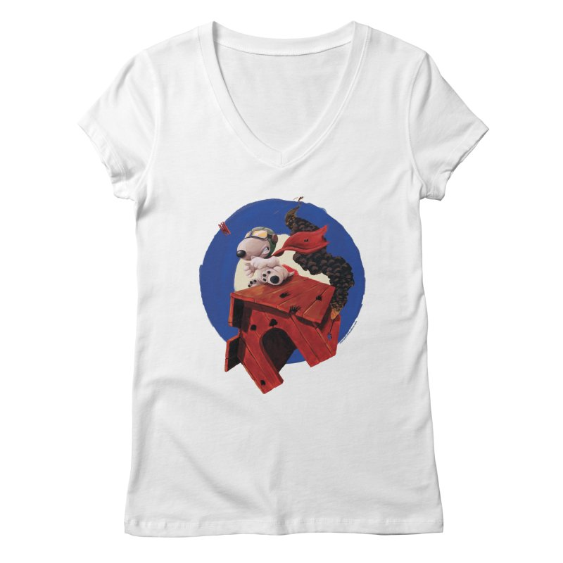 Curse You Red Baron! Women's V-Neck by Manly Art's Tee Shop