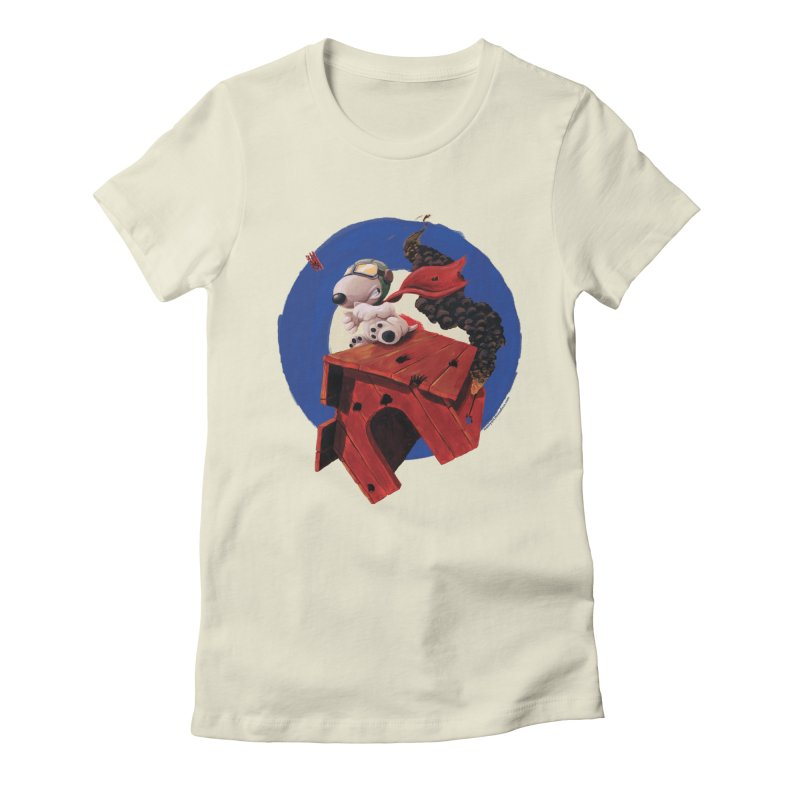Curse You Red Baron! Women's Fitted T-Shirt by Manly Art's Tee Shop