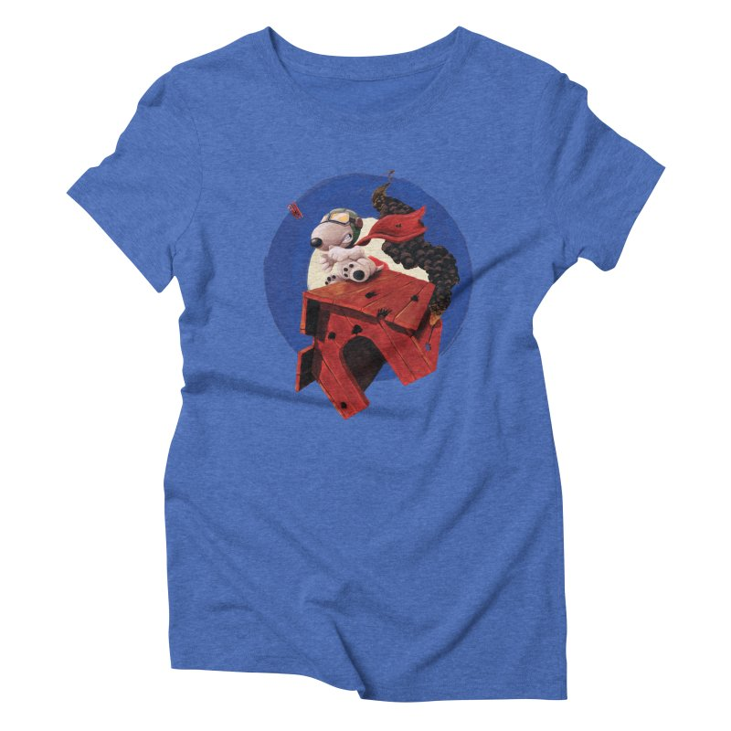 Curse You Red Baron! Women's Triblend T-shirt by Manly Art's Tee Shop