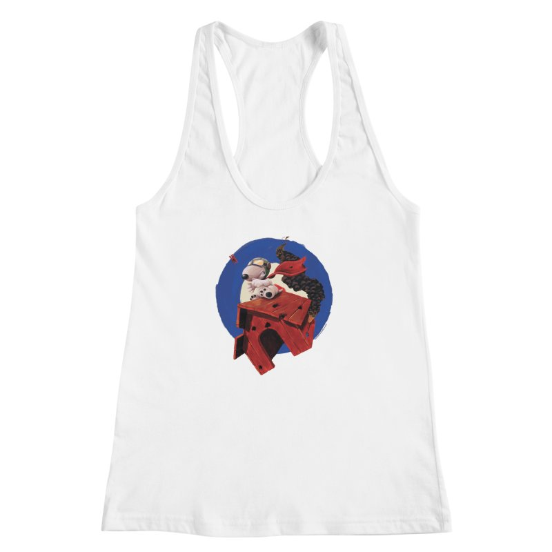 Curse You Red Baron! Women's Racerback Tank by Manly Art's Tee Shop