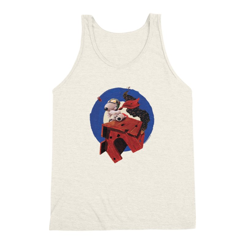 Curse You Red Baron! Men's Triblend Tank by Manly Art's Tee Shop