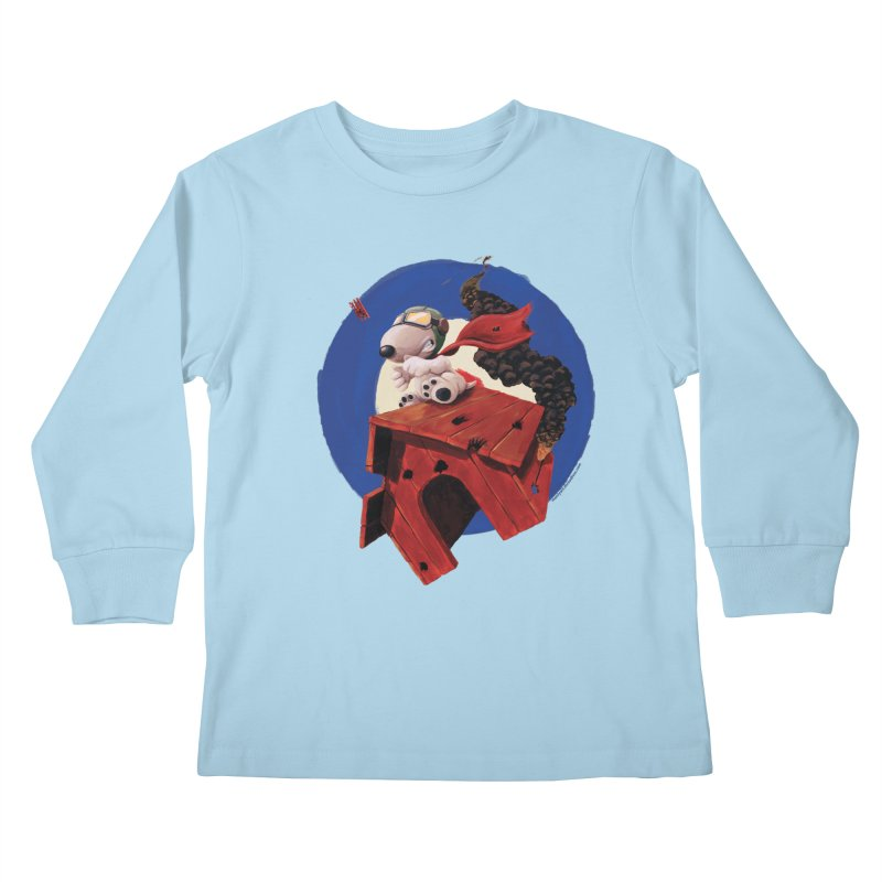Curse You Red Baron! Kids Longsleeve T-Shirt by Manly Art's Tee Shop