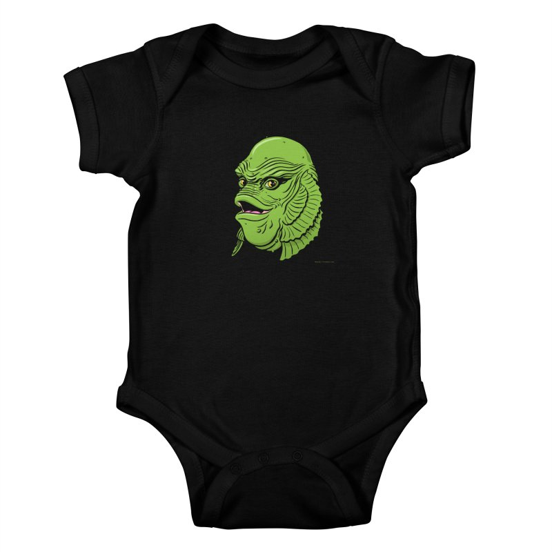 Happy Creature Kids Baby Bodysuit by Manly Art's Tee Shop