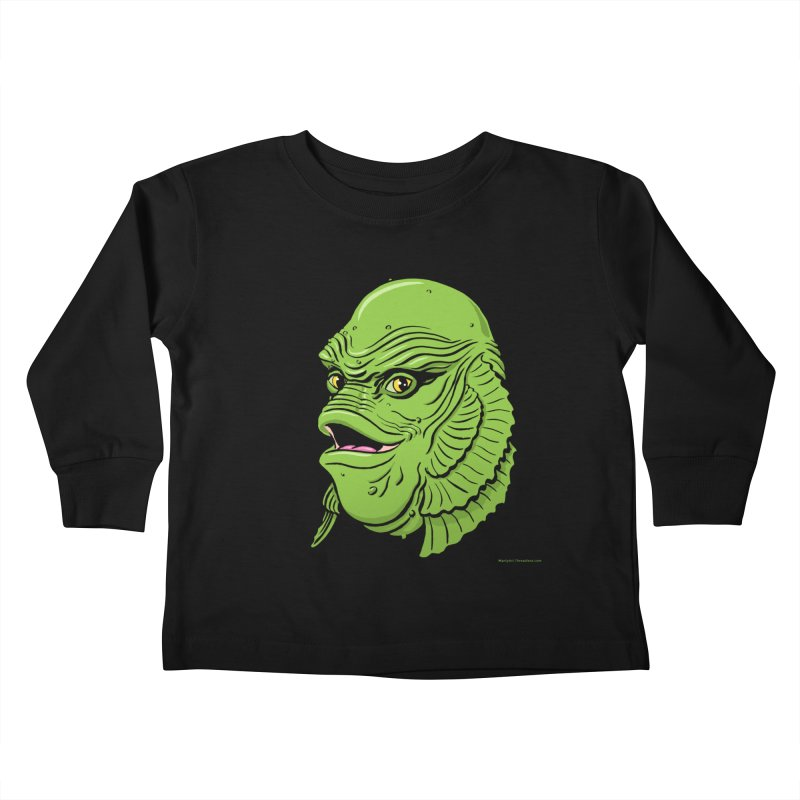 Happy Creature Kids Toddler Longsleeve T-Shirt by Manly Art's Tee Shop